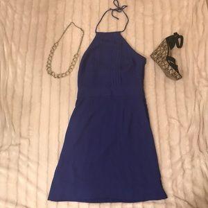 Banana Republic purple halter dress size 2 tall